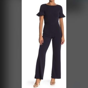 Vanity Room- Short Ruffle Sleeve Jumpsuit